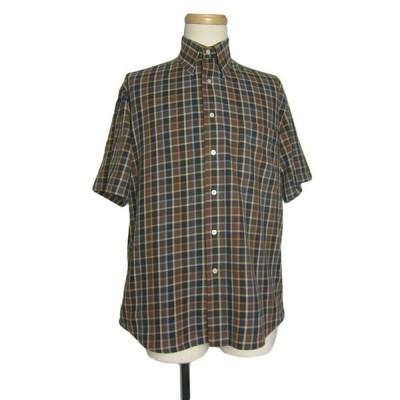 Alan Flusser 半袖チェックシャツ メンズS