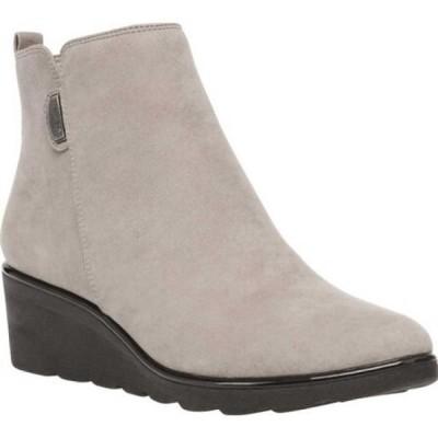 アン クライン Anne Klein レディース ブーツ ウェッジソール シューズ・靴 Baron Wedge Heel Bootie Taupe/Black Multi Fabric
