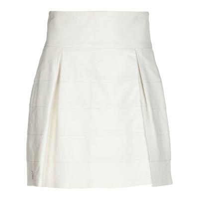 PHILIPP PLEIN ミニスカート ホワイト XS 羊革(ラムスキン) 100% ミニスカート
