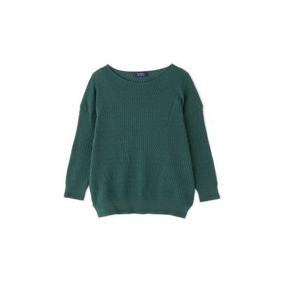 ◆透かし編みニット グリーン