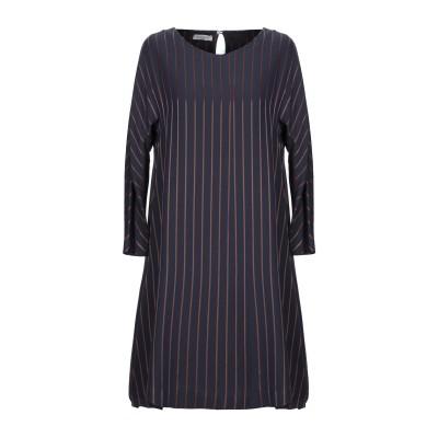 ROSSO35 ミニワンピース&ドレス ダークブルー 42 レーヨン 100% ミニワンピース&ドレス