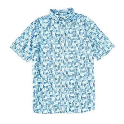 サウザーンタイド メンズ シャツ トップス Happy Hour Short-Sleeve Woven Shirt Seven Seas Blue