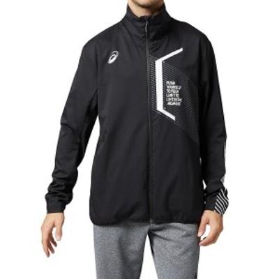 【セール】 アシックス メンズスポーツウェア ウインドアップジャケット AJP.LIMOストレツチクロスジヤケツト 2031B185.001 メンズ BLK