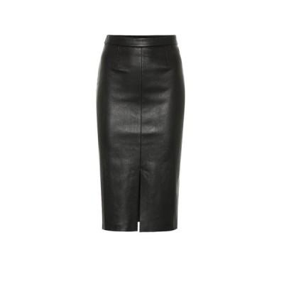 ストールス Stouls レディース ひざ丈スカート スカート Carmen leather midi skirt Noir