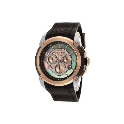 海外セレクション New Deep ダーク クロノグラフ Mother of パール ダイヤル  メンズ 腕時計 MW1-21160-022