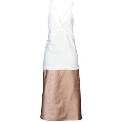 ハイダー アッカーマン HAIDER ACKERMANN 7分丈ワンピース・ドレス ホワイト 36 レーヨン 100% / シルク 7分丈ワンピース
