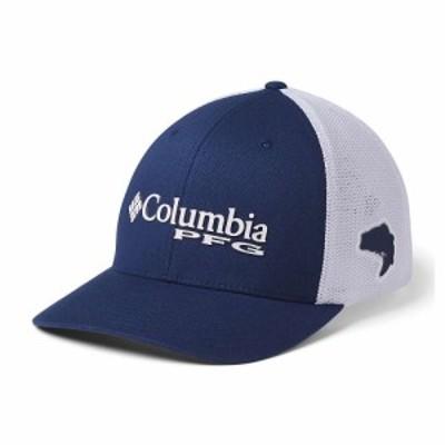 コロンビア Columbia メンズ キャップ 帽子 PFG Mesh Ball Cap Carbon/White/Red Spark Bass