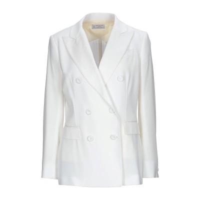 アルベルト・ビアーニ ALBERTO BIANI テーラードジャケット ホワイト 44 トリアセテート 70% / ポリエステル 30% テーラード