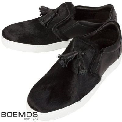 BOEMOS ボエモス メンズ レザーシューズ I6-4555  CAVALLINO NERO1【セール商品のため返品交換不可】