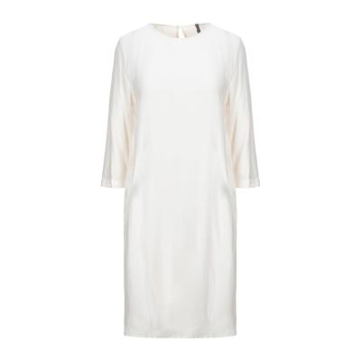 マニラ グレース MANILA GRACE ミニワンピース&ドレス アイボリー 38 レーヨン 100% ミニワンピース&ドレス