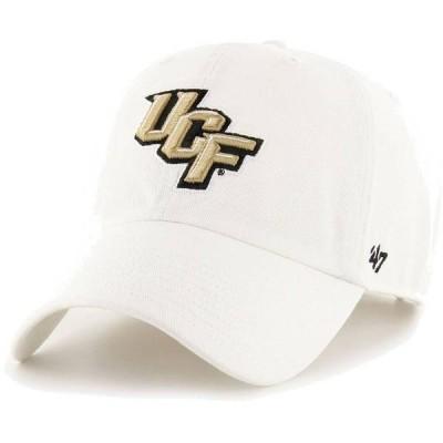 フォーティーセブン メンズ 帽子 アクセサリー '47 Men's UCF Knights OHT Clean Up Adjustable White Hat