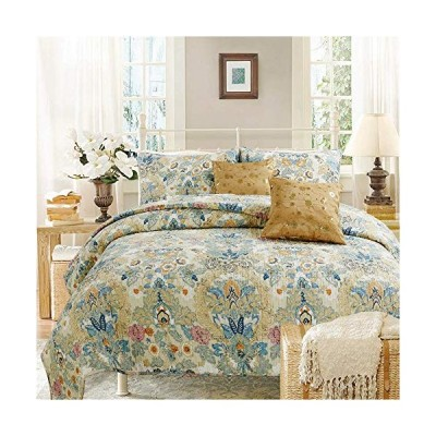 CozyラインホームFashions新しい到着。Laアートペイントブルーベージュオレンジ花柄フラワープリントコットン寝