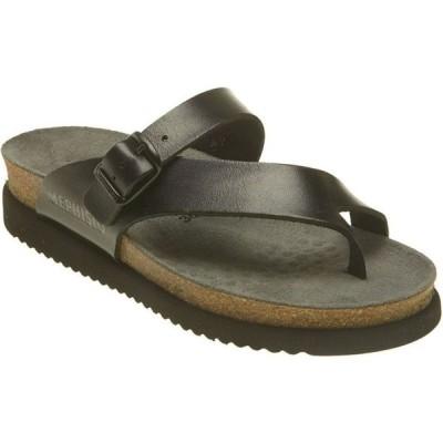 メフィスト MEPHISTO レディース サンダル・ミュール シューズ・靴 'Helen' Sandal Black Waxy Leather