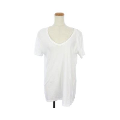 【中古】ドゥーズィエムクラス DEUXIEME CLASSE 18SS Tシャツ カットソー Vネック 半袖 36 白 ホワイト /KS レディース 【ベクトル 古着】