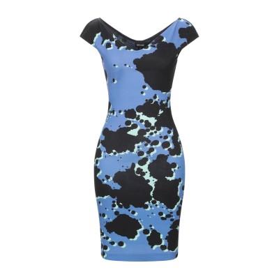 ジャストカヴァリ JUST CAVALLI ミニワンピース&ドレス ブルー 38 レーヨン 95% / ポリウレタン 5% / ナイロン ミニワンピ