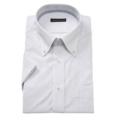ファブリーズ消臭形態安定半袖ワイシャツ(ボタンダウン) (ワイシャツ)Shirts, テレワーク, 在宅, リモート