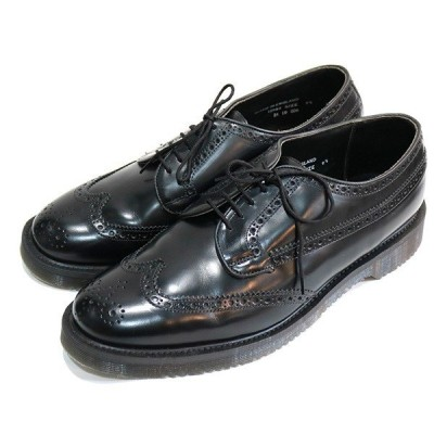 N.HOOLYWOOD × GEORGE COX 13AW MEDALLION SHOES シューズ ブラック サイズ:91/2(27.5cm) (学