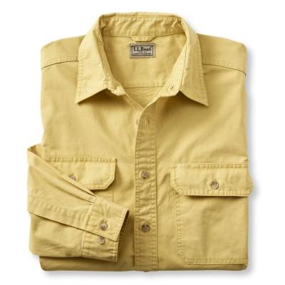 サンウォッシュ・キャンバス・シャツ、長袖