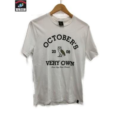 OCTOBER'S VERY OWN オクトーバーベリーオウン カレッジプリントTシャツ S 白[▼]