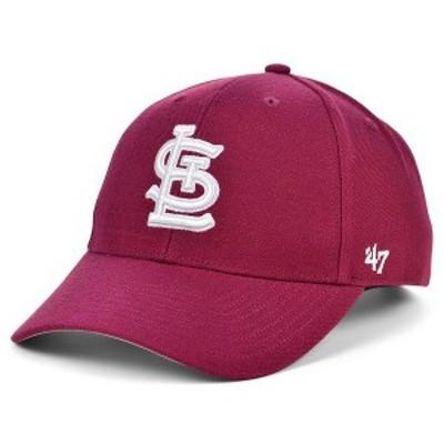 47ブランド レディース 帽子 アクセサリー St. Louis Cardinals Cardinal MVP Cap Cardinal Red