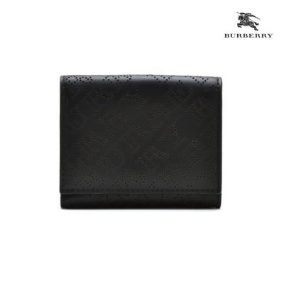 バーバリー 二つ折り財布 コンパクトウォレット ブラック レディース