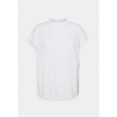 ヴィラ Tシャツ レディース トップス VICATHRINE FUNNEL NECK - Basic T-shirt - cloud dancer