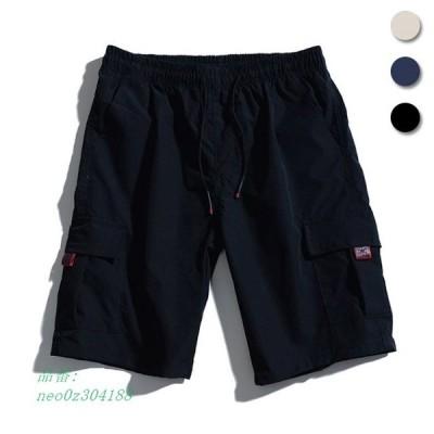 ハーフパンツ メンズ ショートパンツ ゆったり サマーパンツ 半ズボン カジュアルパンツ ショーパン 短パン 5分丈パンツ ワイドパンツ 夏