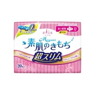 エリス Megami 素肌のきもち 超スリム 多い昼用 羽つき 20枚 /メガミ 生理用品 ナプキン (毎)
