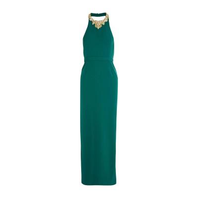 マルケッサ・ノッテ MARCHESA NOTTE ロングワンピース&ドレス グリーン 12 ポリエステル 94% / ポリウレタン 6% ロングワン