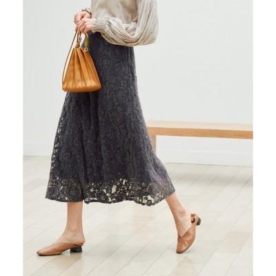 スカート 【emur】モールレースマーメイドスカート