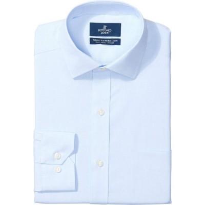 バトゥンド ダウン Buttoned Down メンズ シャツ トップス Tailored Fit Stretch Poplin Non-Iron Dress Shirt Light Blue