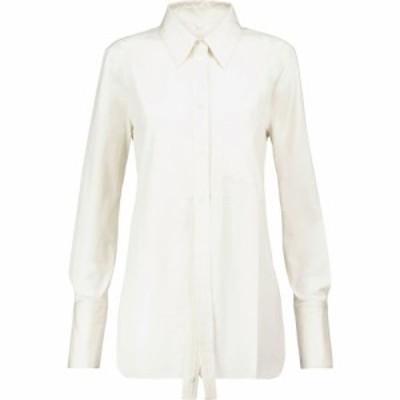 ピーター ドゥ Peter Do レディース ブラウス・シャツ トップス Cotton shirt White