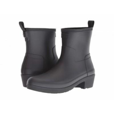 HUNTER ハンター レディース 女性用 シューズ 靴 ブーツ レインブーツ Refined Low Heel Ankle Biker Rain Boots Black【送料無料】