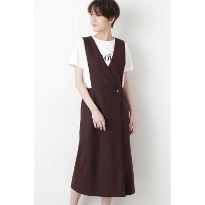 HUMAN WOMAN / ヒューマンウーマン ◆2WAYツイルジャンパースカート