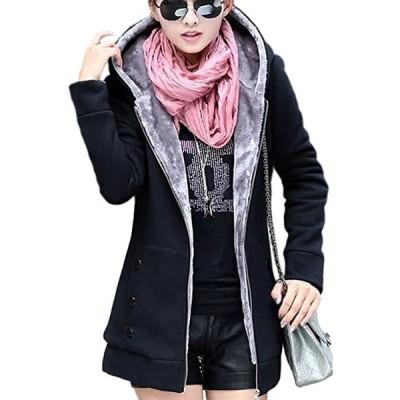 レディース コート 着痩せ 暖かい ジャケットカジュアル フード付き(s2012250557)