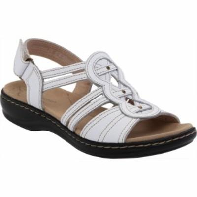 クラークス Clarks レディース サンダル・ミュール シューズ・靴 Leisa Janna Slingback Sandal White Full Grain Leather