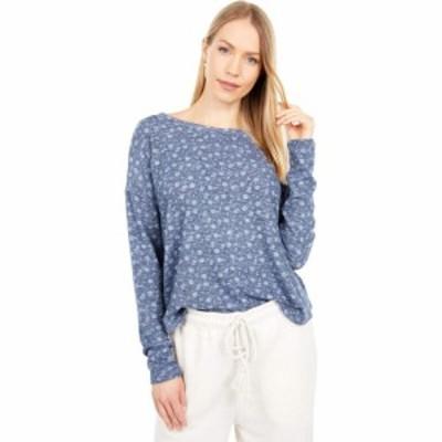 ラッキーブランド Lucky Brand レディース Tシャツ トップス Hacci Crew Blue Multi