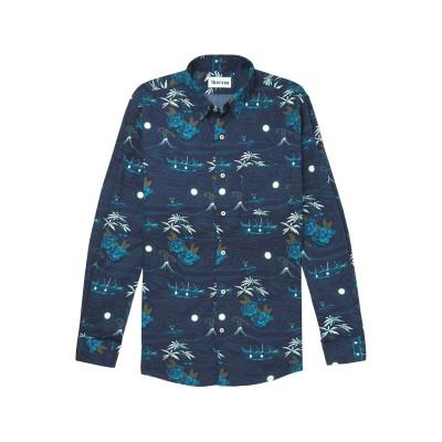 THORSUN シャツ ダークブルー XS コットン 100% シャツ
