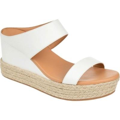 ジュルネ コレクション Journee Collection レディース サンダル・ミュール シューズ・靴 Alissa Slide White
