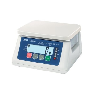取引・証明用(検定済品)防塵・防水デジタルはかり (5区分 地区4) A&D SJ2000WPA4-8503