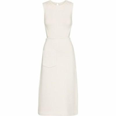 フェンディ Fendi レディース パーティードレス ミドル丈 ワンピース・ドレス cotton-blend knit midi dress White