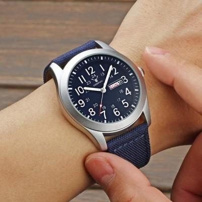Mens Quartz Waterproof Calendar Watch Fashion Sports Casual Military N