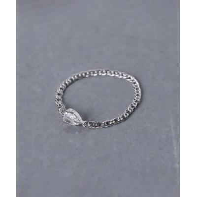 指輪 <les bonbon(ル ボンボン)>10K WG チェーン リング