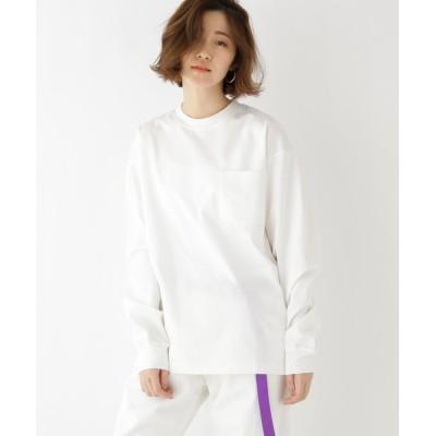 BASESTATION / シルケット ビッグシルエット 長袖 Tシャツ WOMEN トップス > Tシャツ/カットソー