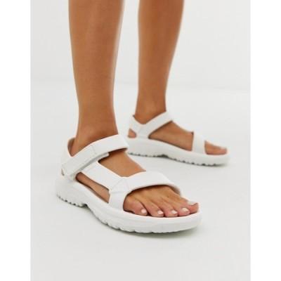 テバ レディース サンダル シューズ Teva Hurricane Drift sandals in white