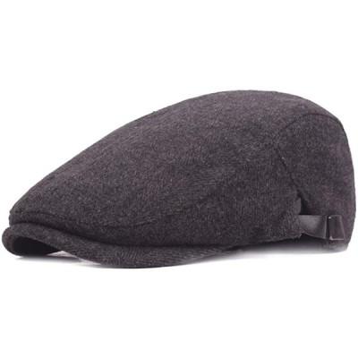 キャスケット ハンチング帽 メンズ シンプル 秋冬 防寒 紳士 無地 帽子 ベーシック 5459cm調節可能 旅行 アウトドア カジュアル byたく