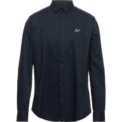 アイスプレイ ICE PLAY メンズ シャツ トップス Solid Color Shirt Dark blue