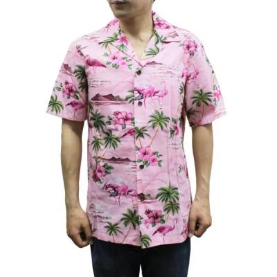 【送料無料】Robert J. Clancey 102C.275 Broadcloth Traditional Aloha Shirt トラディショナル アロハ シャツ 半袖 MENS メンズ ハワイ製 Pink ピンク S-L