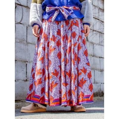 【チャイハネ】アフリカンリーフ柄ロングスカート