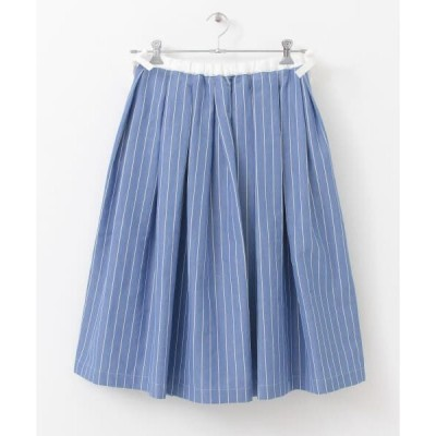 URBAN RESEARCH DOORS / アーバンリサーチ ドアーズ Scye Cotton linen Striped Skirt